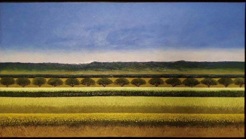 """Otoñal""  |  Abelardo López  |   Óleo sobre lino  |  100 x 180"