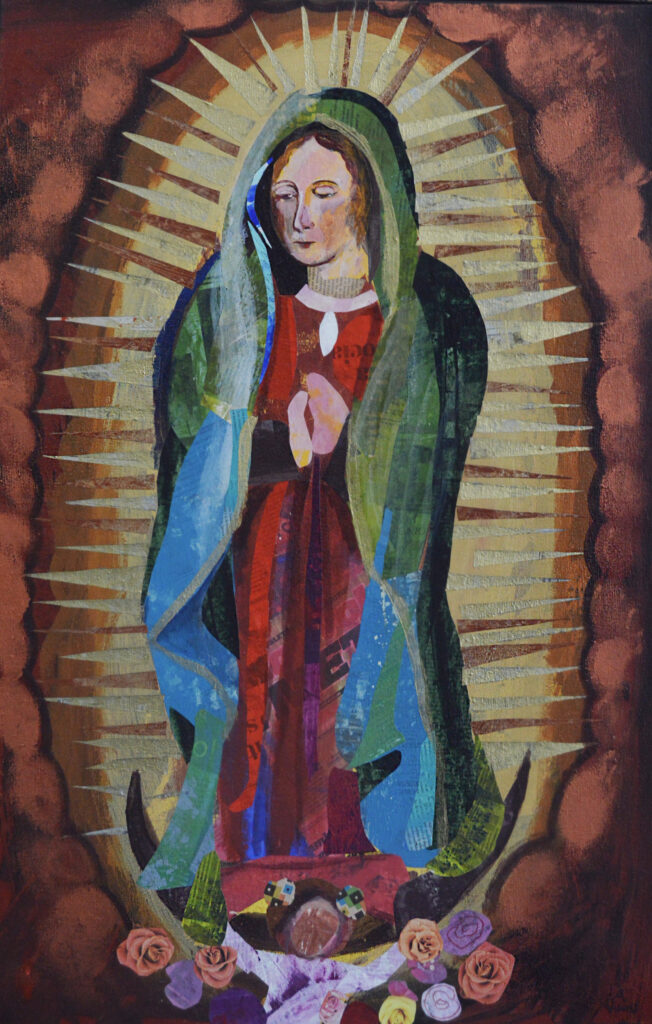 """Sin título""  |  Alejandra Villegas.  |  Collage 80 x 60 cm"