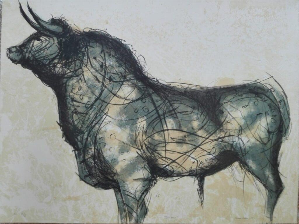 Toro  |  Tomás Pineda matús |  Litografía: 76 x 100 cm