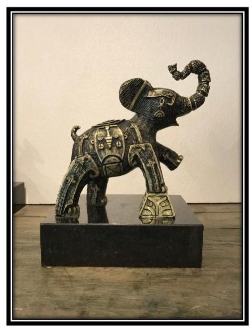 """Elefante cirquero""  |  Andriacci  | Bronce 33 x 32 x 15 cm"