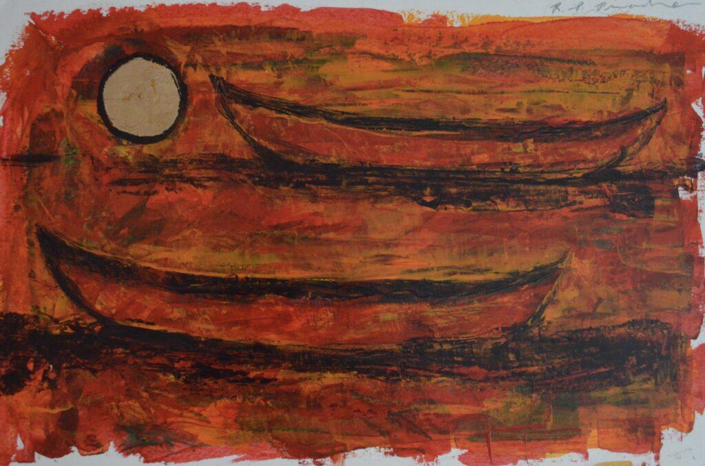 """Sin título""   |   Rosendo Pinacho.   |   Mixografía sobre papel 45x 30 cm"