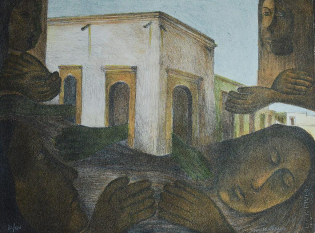 Rodolfo Morales  |   Carpeta colores mujeres  |   Litografía 78.5x 60 cm