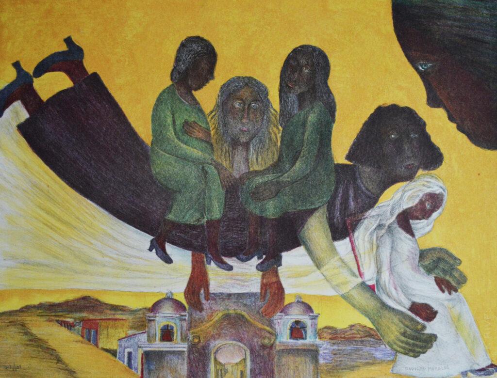 Rodolfo Morales  |   Carpeta colores mujeres   |   Litografía  60 x 79 cm