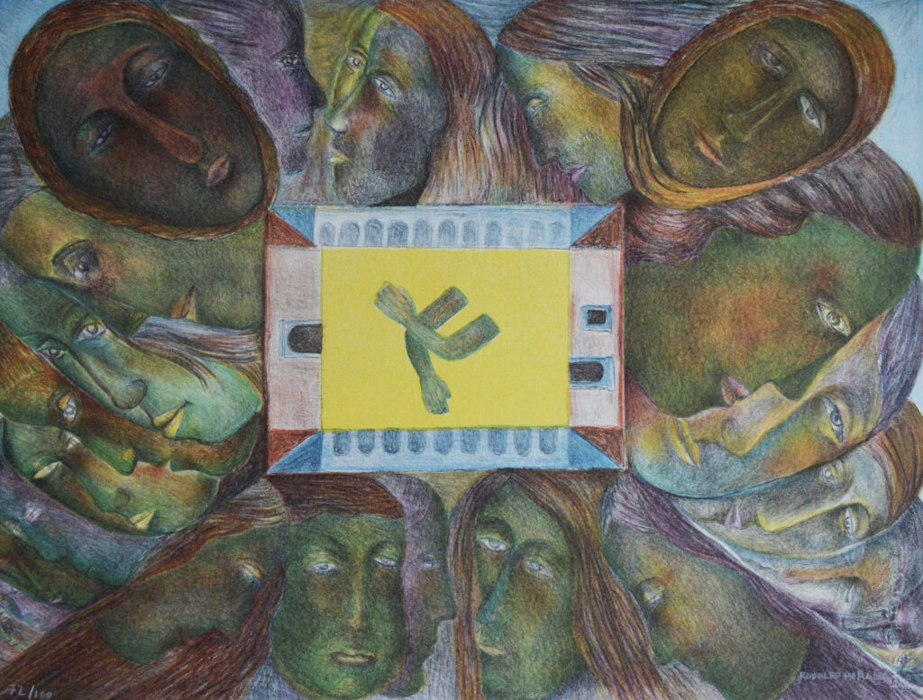 Rodolfo Morales   |   Carpeta colores mujeres   |    Litografía  79 x 60.5 cm
