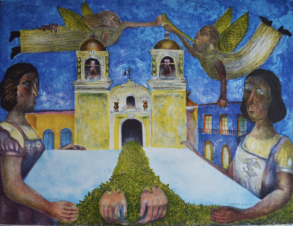 Rodolfo Morales  |  Carpeta colores mujeres   |    Litografía 69.7 x 60 cm