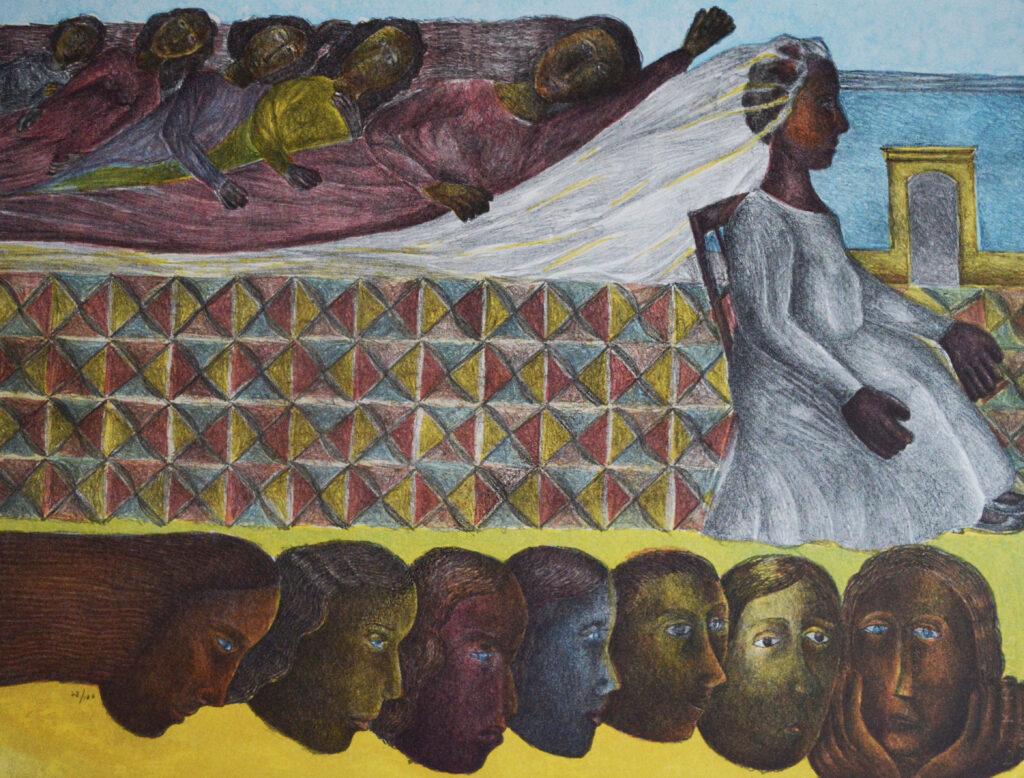 Rodolfo Morales  |   Carpeta colores mujeres  |   Litografía 79 x 60 cm