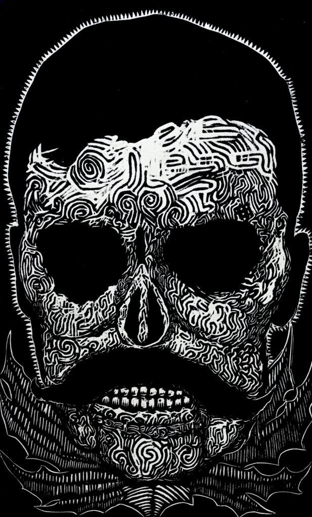 """Zapata nunca muere""     Yeska.   Litografía: Impresión 46 x 28 cm; Papel 56 x 38 cm""     -Carpeta muerta-"