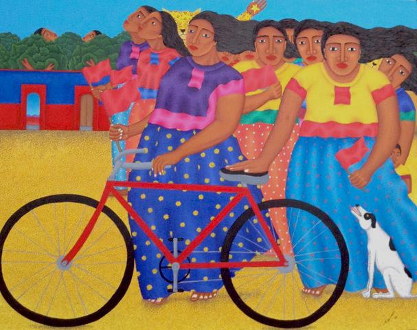 """La bicicleta""  | Fernando Olivera  |  100 x 120 cm"
