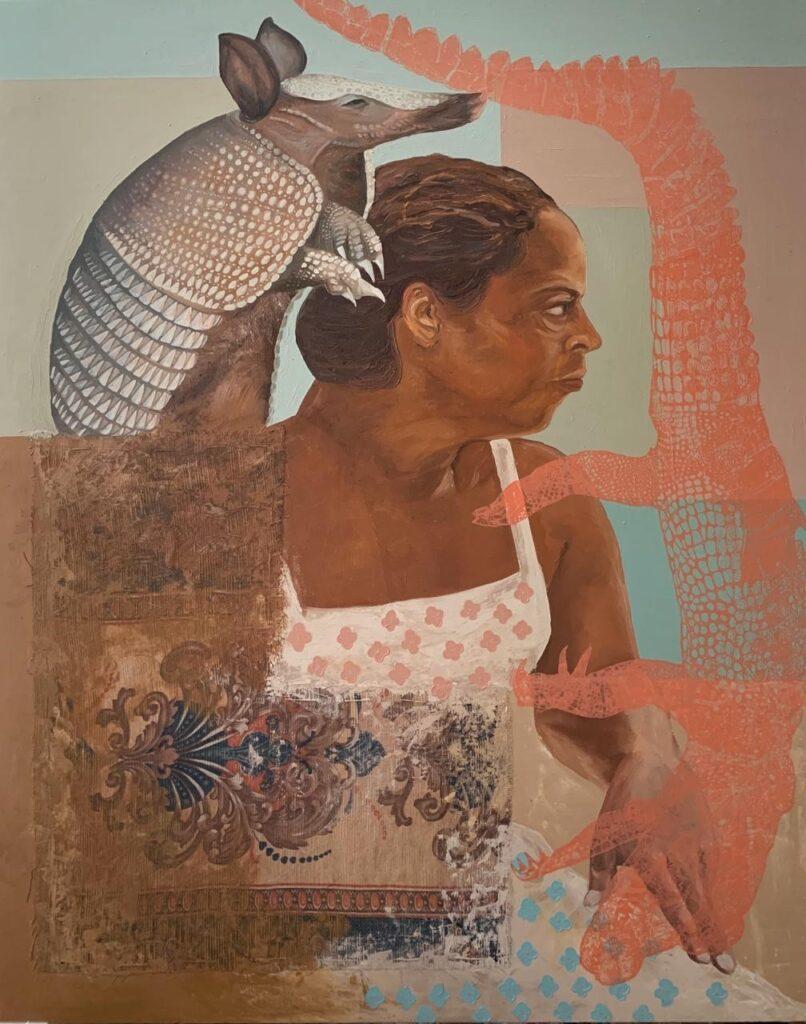 """2 Corazones""  |   Venancio Velasco  |  Óleo sobre tela 100 x 80 cm"