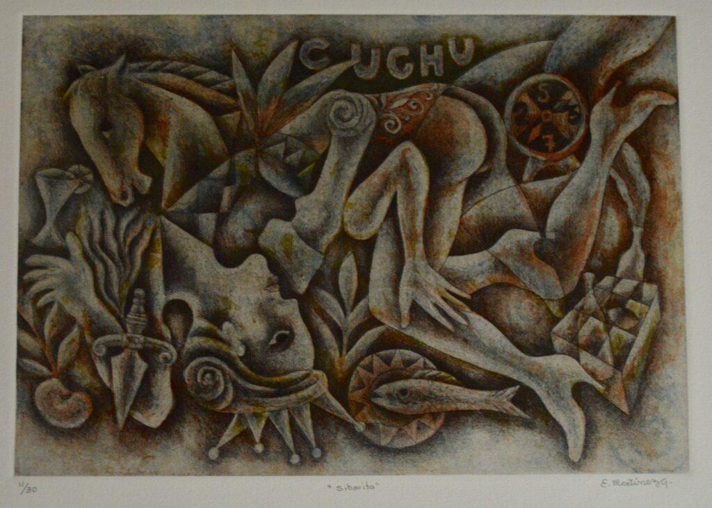 Eddie Martínez. Sibarita. Litografía.  Papel 76 x 56 cm . Impresión 39 x 49 cm.