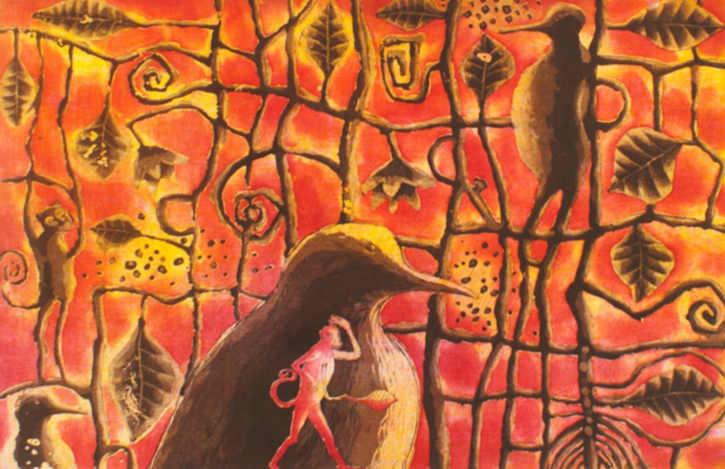 Emiliano López.  | Pájaro de la noche (carpeta de la reserva de la biósfera.