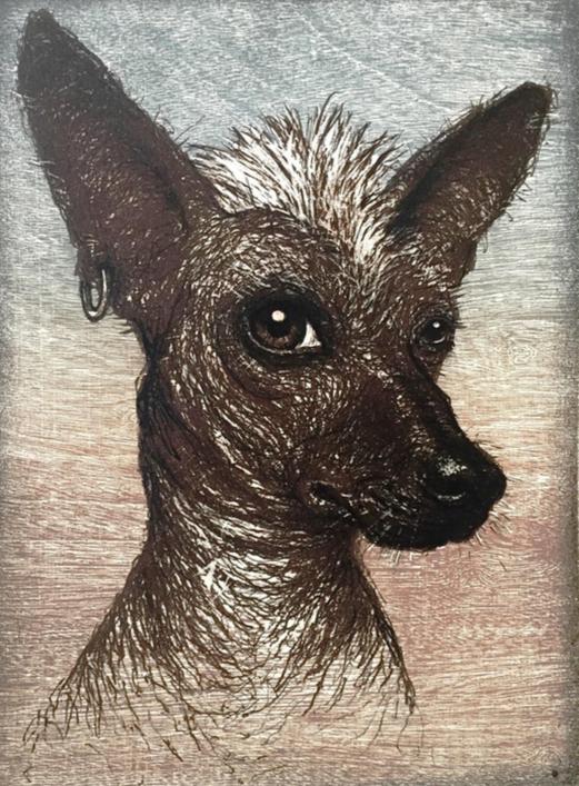 """""""Mexicano""""      Daniel Barraza.       Khokhlov. Mixta.  35 x 26 cm."""