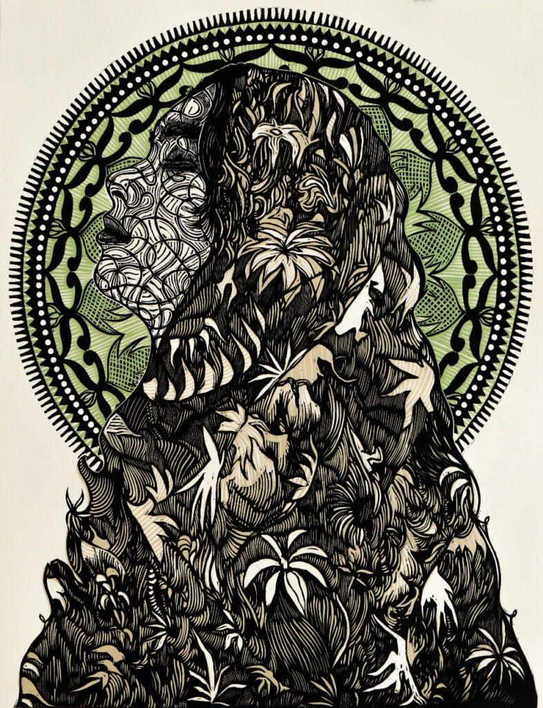 Alan Altamirano   |  Xilografía 74 x 54 cm