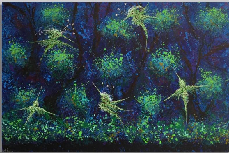 """Santuarios de Luz""   |  Manuel Miguel   |   Mixta/Loneta  165 x 250 cm"