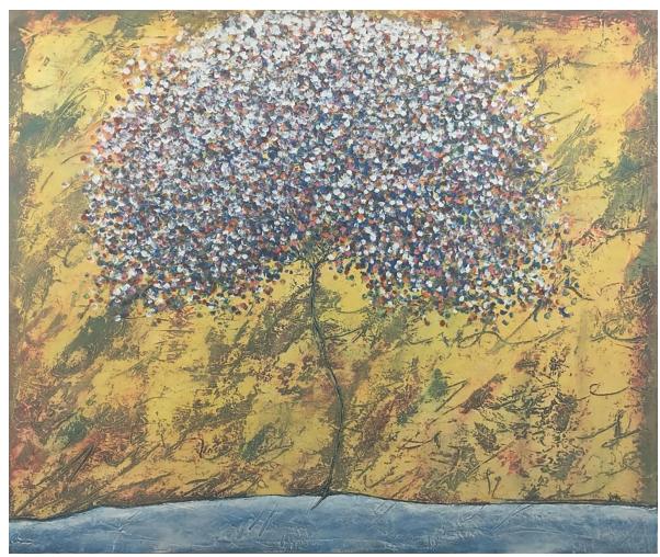 """Ludus""  |  Rosendo Vega   |  Óleo/lienzo  100 x 120 cm"