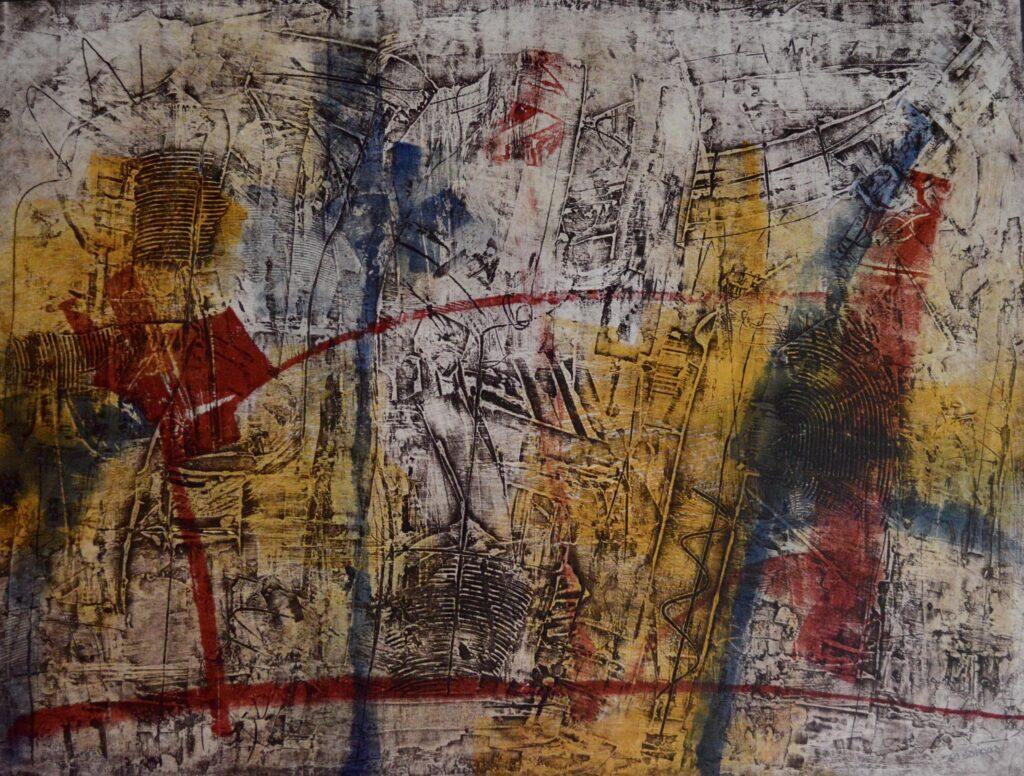"""""""Sin título""""       Vicente Mesinas     Colografía 76 x 57 cm"""