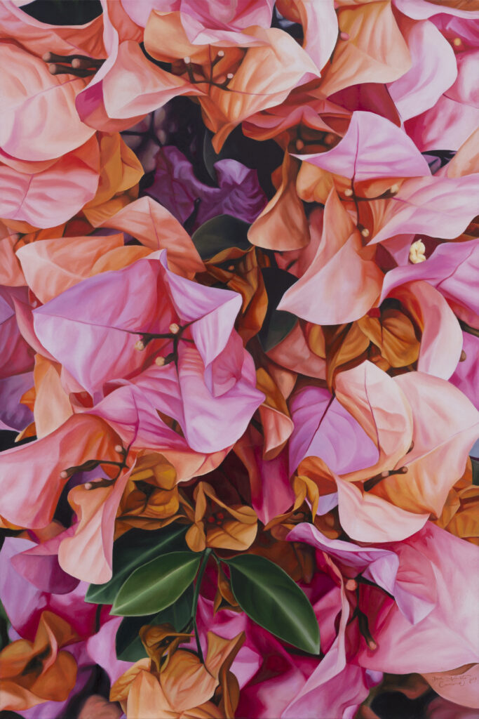 """ Bugambilia""  |   José Alberto Canseco  |  Óleo sobre tela  70 x 100 cm"