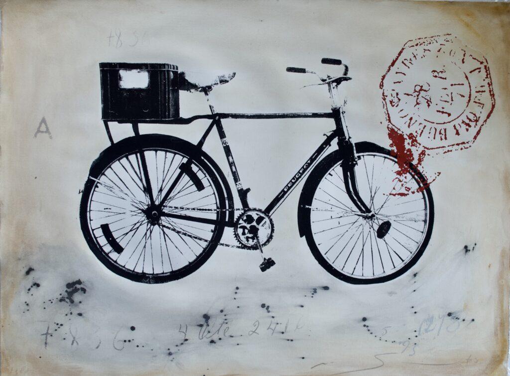 """Un recuerdo de cuba"", Mixta sobre papel, Medidas 56 x 75 cm"