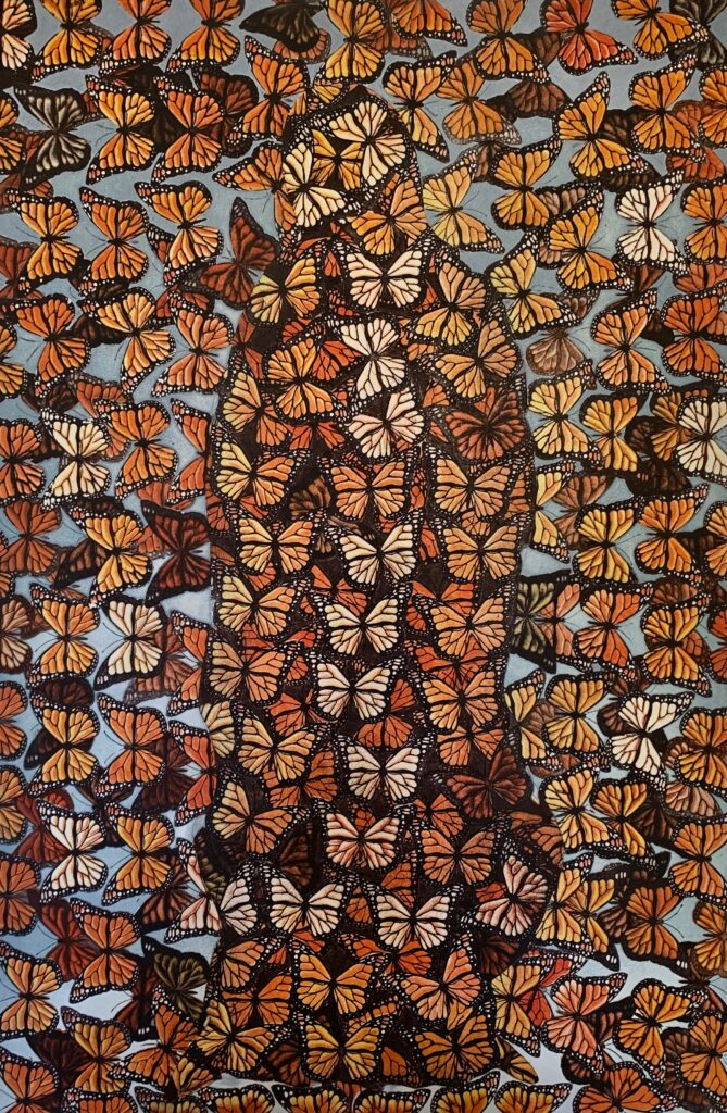 """Ismael Vagas, """"Santuario"""" Aguafuerte y aguatinta, Medidas 90 x 60 cm, Año 2020"""