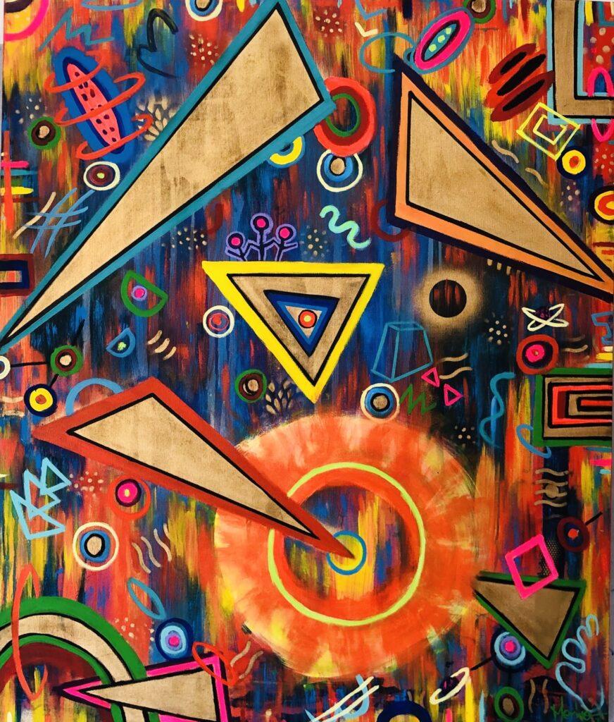 """Destino"", Francisco Merino, Mixta sobre tela, Medidas: 120 x 100 cm, 2021"