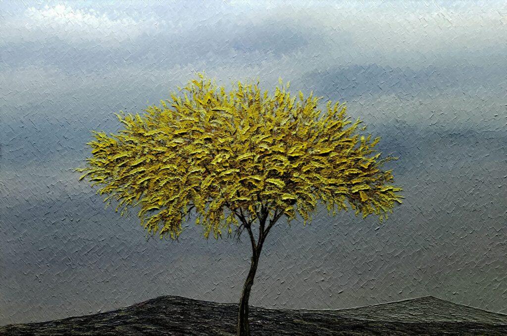 """""""Con el viento de otoño"""", Guillermo Pons, Óleo sobre tela, Medidas: 80 x 120 cm, 2021"""
